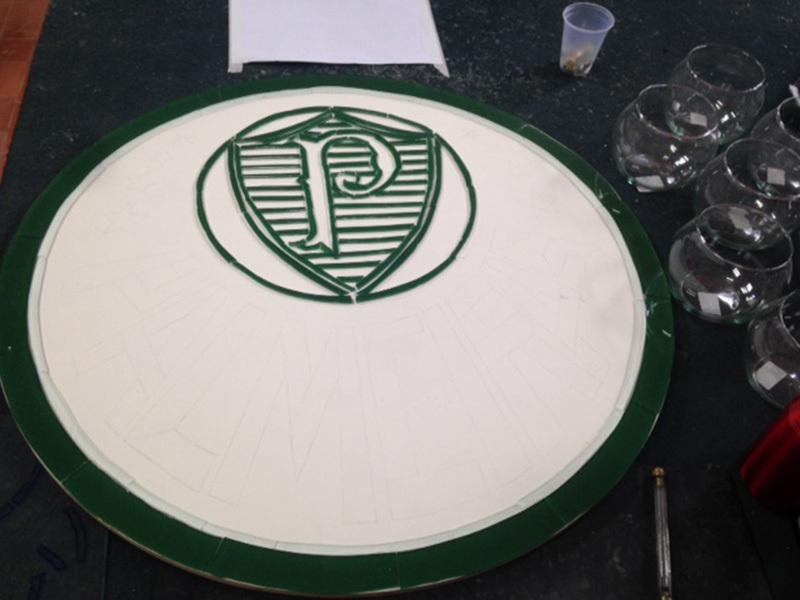 Escudo do Palmeiras em Vitral