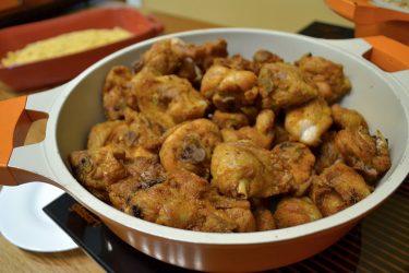 frango à passarinho em restaurante deSousas